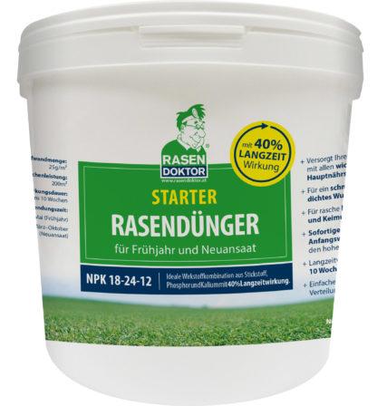 Starter Rasendünger für das Frühjahr und eine Neuansaat NPK 18-24-12 5 kg