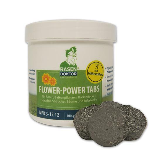 Flower-Power Tabs mit Nährstoffen für Rasen, Balkonpflanzen & Co