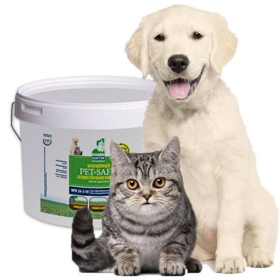 Tierfreundlicher Rasendünger mit besonders guter Löslichkeit und ohne schädliche Schwefelummantelung